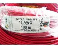 Cable THW 90°c / 600 v. Sigma-Delta Nro. 12 - 10 - 8 - 6