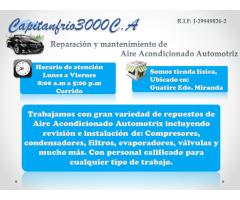 Reparación y Mantenimiento de Aire Acondicionado Automotriz