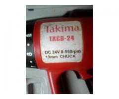 Taladro Inalambrico Reversible-Recargable Takima Modelo TKCD-24
