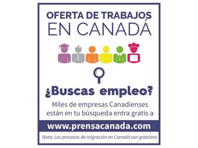 Excelente oferta de trabajo en Canadá - 1/1
