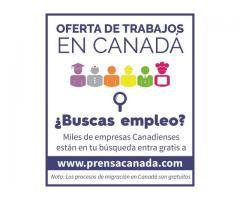 Excelente oferta de trabajo en Canadá