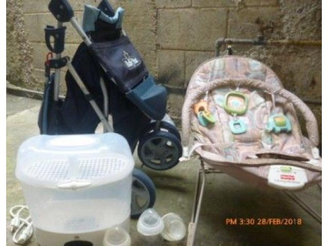 vendo coche, silla mededora fisher price mas esterilizador - 1/6