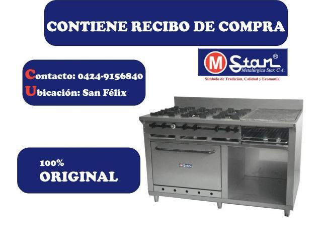 Cocina De 6 Hornilla, Plancha, Horno Y Granitador - Mstar - 1/2