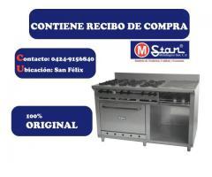 Cocina De 6 Hornilla, Plancha, Horno Y Granitador - Mstar
