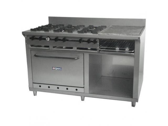 Cocina De 6 Hornilla, Plancha, Horno Y Granitador - Mstar - 2/2