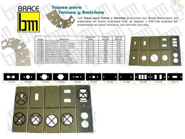TAPA CAJERA 4X2 DE METAL CROMADO - 2/2
