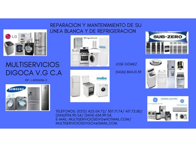 VENTA DE REPUESTOS Y SERVICIO TECNICO PARA LINEA BLANCA Y DE REFRIGERACION - 1/6