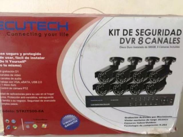 Kit de Ocho (8) camaras de seguridad, marca Secutech - 1/1