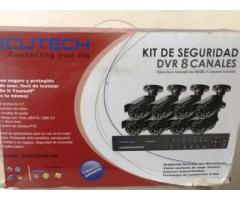 Kit de Ocho (8) camaras de seguridad, marca Secutech