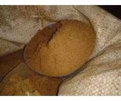 Materia prima para fabricación de alimentos concentrado (animales)