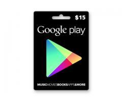 Tarjeta google play