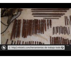 herramientas de carpintería, llaves de tubo, plantas eléctricas, laminas de acero inoxidable