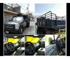 *CAMIÓN 350 SÚPER DUTY AÑO 2011 308KM CON BARANDAS Y JAULA GANADERA 12500$