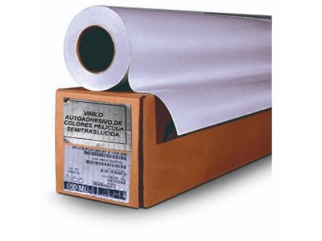 Rollos de vinil de corte autoadhesible de 50 mts. x 1,22 color rojo y Silver - 1/2