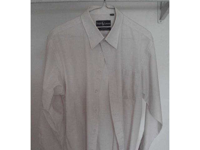 VENDO CAMISA MARCA RALPH LAURENT TALLA M, COLOR CREMA - 1/4