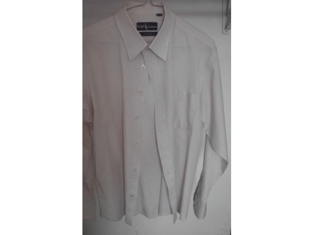 VENDO CAMISA MARCA RALPH LAURENT TALLA M, COLOR CREMA - 2/4