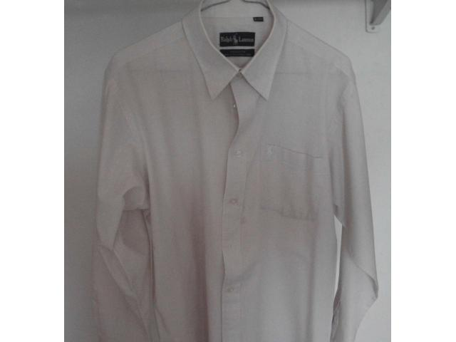 VENDO CAMISA MARCA RALPH LAURENT TALLA M, COLOR CREMA - 3/4