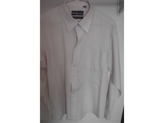 VENDO CAMISA MARCA RALPH LAURENT TALLA M, COLOR CREMA - 4/4