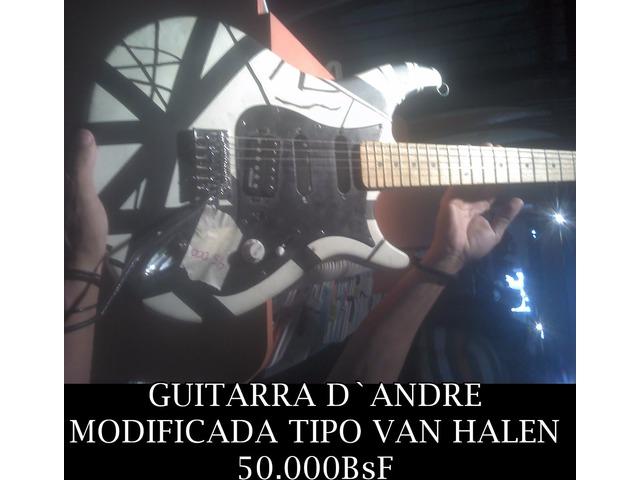 """*GUITARRA D`ANDRE, MODIFICADA TIPO """"VAN HALEN"""" EN 50.000BsF - 1/1"""