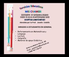 CLASES INTENSIVAS DE REGRESO A CLASES