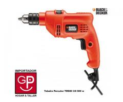 "TALADRO PERCUTOR BLACK AND DECKER 3/8"" USADO."