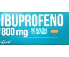 IBUPROFENO 800 mg, ACETAMINOFEN 500 mg, LOSARTAN POTASICO 50 mg