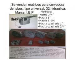 Se vende Matrices para curvadora de tubos, Marcas: I.B. P