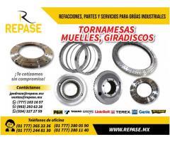 TORNAMESAS, MUELLES Y GRADISCOS