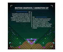 Servicios de Producción de animación 2D, motion Graphics e ilustración