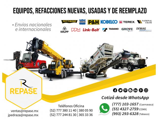 EQUIPOS, REFACCIONES NUEVAS Y DE REEMPLAZO - 1/1