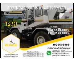 REFACCIONES, EQUIPOS Y MANUALES PARA GRÚAS P&H