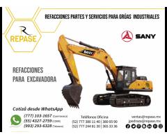 REFACCIONES PARA EXCAVADORAS SANY