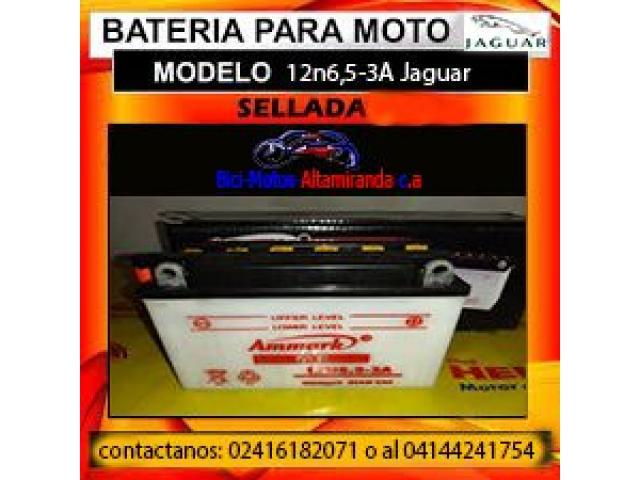 bateria de moto 12n6,5-3A jaguar - 1/1