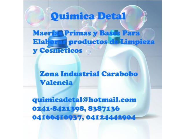 MATERIAS PRIMAS Y BASES PARA ELABORAR PRODUCTOS DE LIMPIEZA Y COSMÉTICOS - 1/1