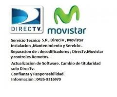 Servicio Tecnico sistema satelital DirecTv , Movistar TV