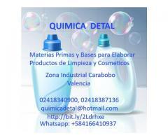QUIMICA DETAL VENEZUELA MATERIAS PRIMAS PARA ELABORAR PRODUCTOS DE LIMPIEZA Y COSMETICOS