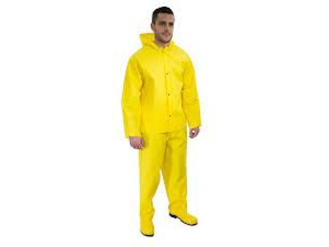 Impermeable Tipo Motorizado, color amarillo,300 Micras - 1/2