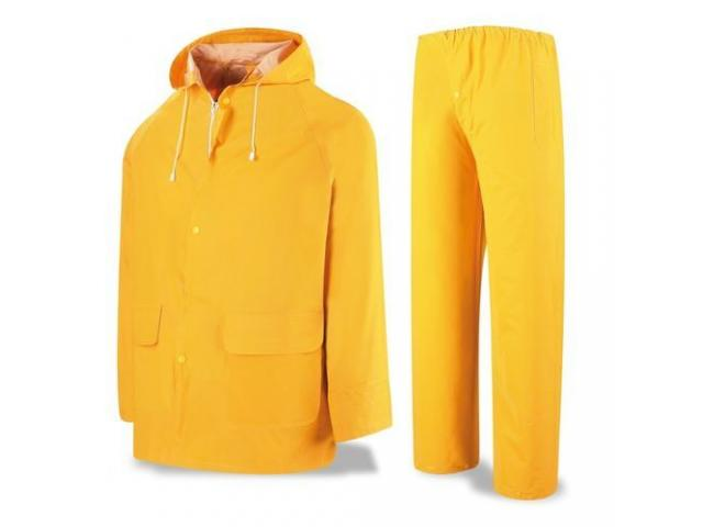 Impermeable Tipo Motorizado, color amarillo,300 Micras - 2/2