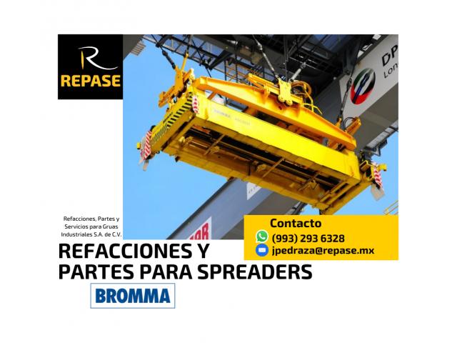 REFACCIONES Y PARTES PARA SPREADERS BROMMA - 1/1