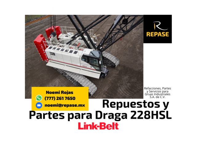 VENTA DE PARTES PARA DRAGA 228HSL LINK-BELT - 1/1