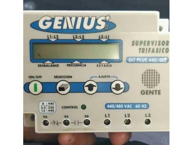 Supervisor De Voltajes Genius Trifasico Plus 440 /480 Amp - 1/1