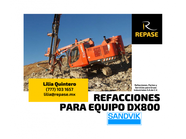 REFACCIONES PARA EQUIPO DX800 SANDVIK - 1/1