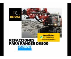 REFACCIONES PARA RANGER DX500 SANDVIK