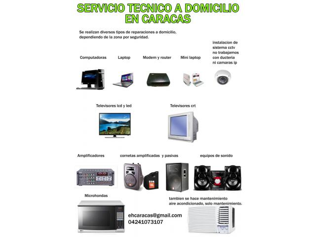 servicio tecnico a domicilio en caracas - 2/2