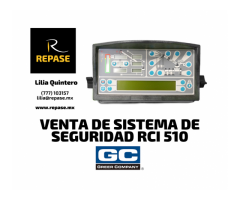 VENTA DE SISTEMA DE SEGURIDAD RCI-510 GREER C.