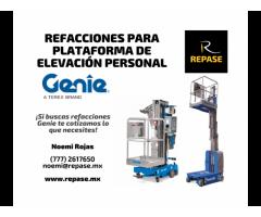REFACCIONES PARA PLATAFORMAS DE ELEVACIÓN PERSONAL GENIE