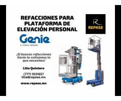 REFACCIONES PARA PLATAFORMAS DE ELEVACIÓN GENIE