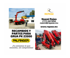 RECAMBIOS Y PARTES PARA GRUA PK 23500 PALFINGER