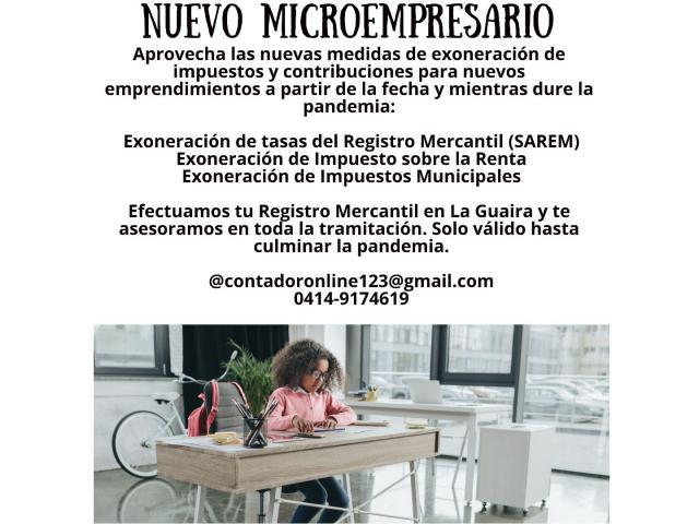 REGISTRO MERCANTIL PARA NUEVOS MICROEMPRESARIOS - 1/2