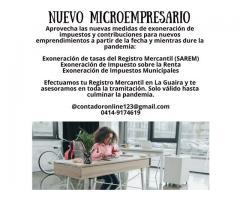 REGISTRO MERCANTIL PARA NUEVOS MICROEMPRESARIOS